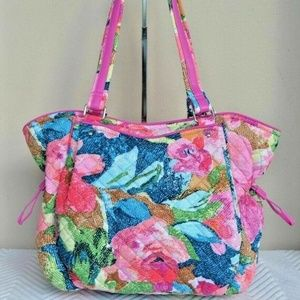 New Vera Bradley Iconic Glenna Satchel Bag